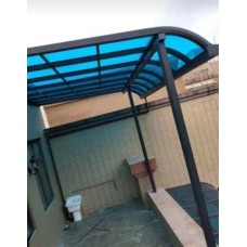 鋁合金遮雨蓬(德國聚碳酸酯板)防晒防紫外線